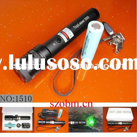 Top-300 200mW Green Laser Pointer with Double-protection Device