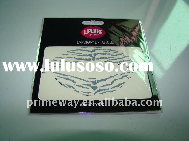 White Tiger Lip Tattoo and Cutomized Animal Temporary Lip Tattoo Stickers