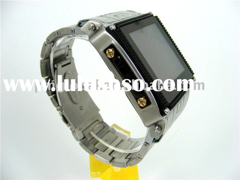 Wrist Watch Phone ( 2011 new Stainless Steel Waterproof watch mobile phone, Support microSD Card to