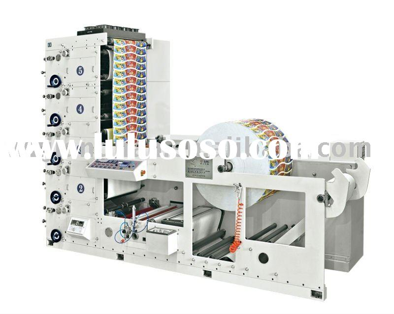 YR--4 Colors 1000\650\480\320 mm Flexographic paper cup Printing machinery