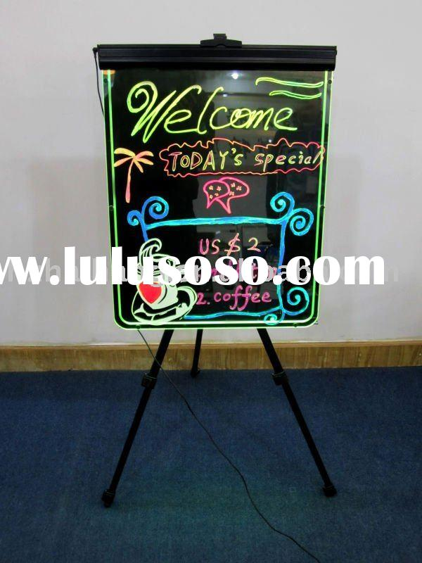 attractive multicolor led display writing board make your information stand out