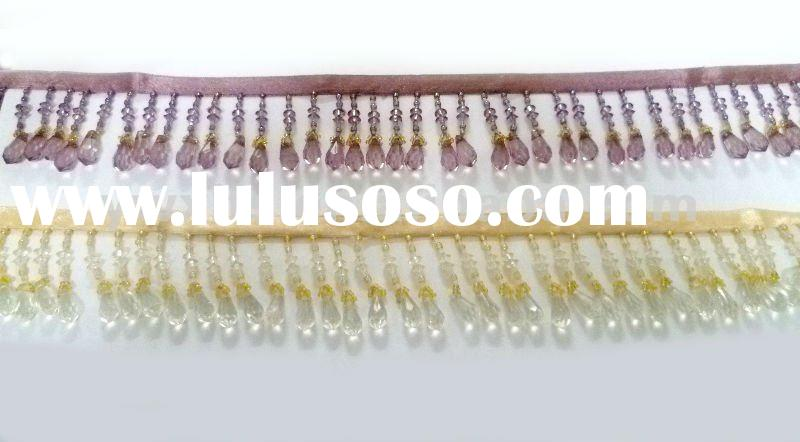 beaded tassel fringe for home textile with decorative