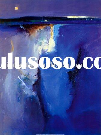 blue art modern blue abstract oil painting on canvas