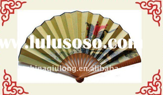 chinese style hand fan sticks with bamboo