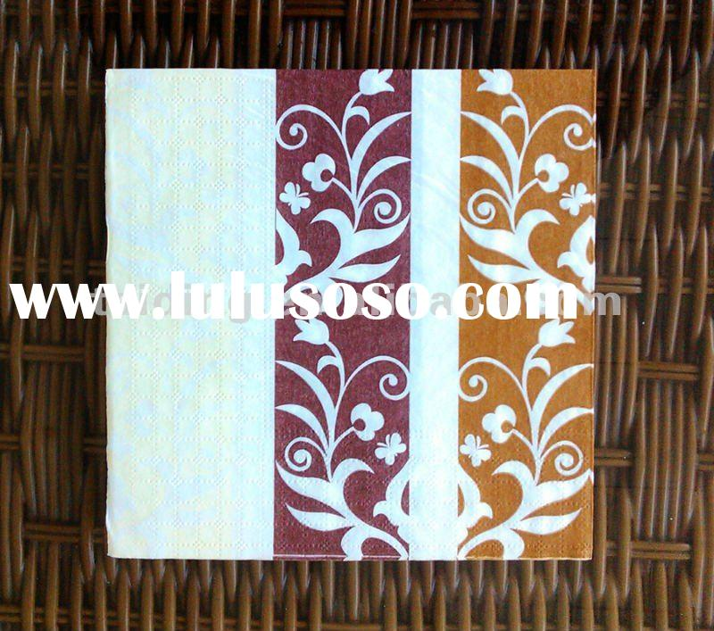 custom printed paper napkins Printed or plain paper serviettes  paper serviettes:  paper serviettes/napkins are available in the following sizes to promote your logo or brand.