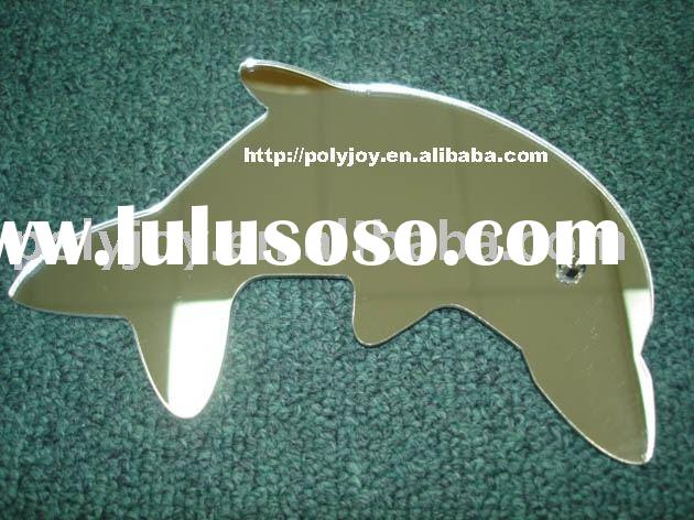 dolphine shape mirror, wall mirror, sticky mirror, Shaped mirror, Acrylic Mirror, decorative mirror,