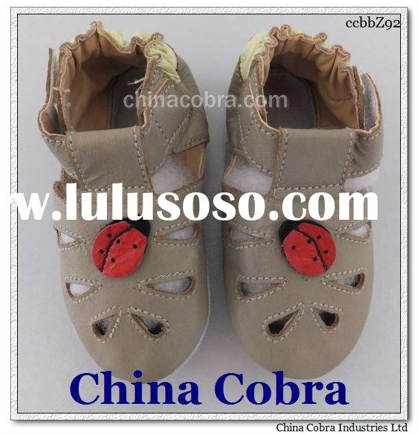 hotsale soft sole baby leather shoes SUMMER DESIGN
