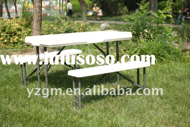 kids folding picnic beer table and chair set