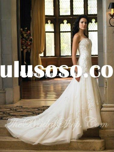 lace applique cathedral train new models bride wedding dress
