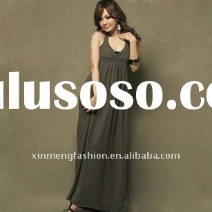 lady fashion backless maxi long dress