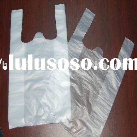 lucency HDPE/LDPE Plastic t-shirt bags