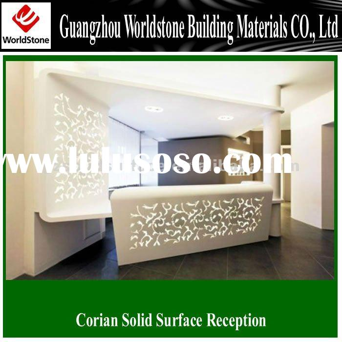modern design acrylic solid surface bar reception counter