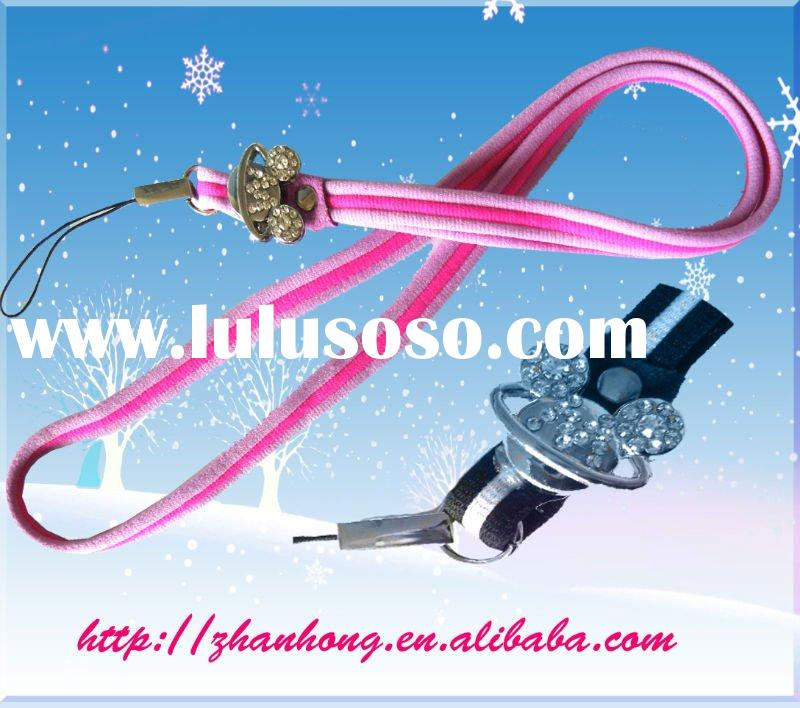 polyester mobile phone lanyard (cell phone strap ,neck strap)