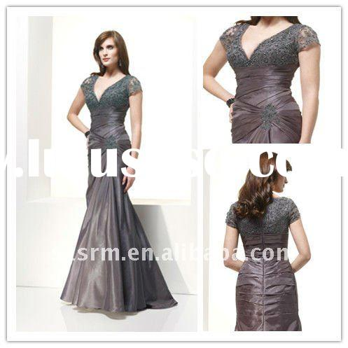sheath custom made floor length mother of the bride evening dress