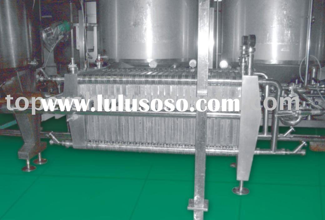 soft drink industry stainless steel plate and frame food filter press