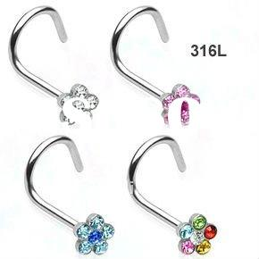 surgical steel daisy nose screws body jewelry