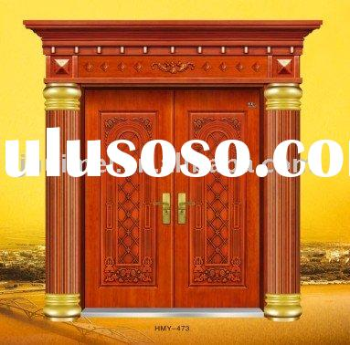 villa door,double open door,copper door,gate,