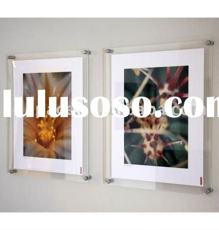 wall mounted acrylic picture frame