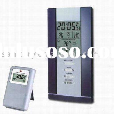 weather station,lcd clock,weather forecast clock,table clock,wireless weather station,electronic cal