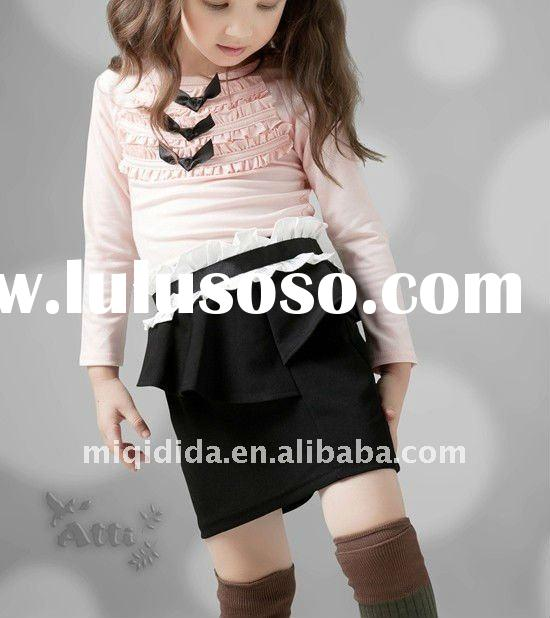 young girls in short skirts/2-12years old/manufacturer of kids wear