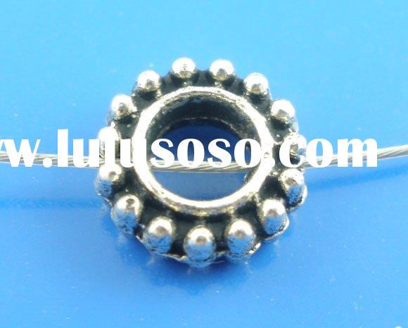 100Pcs Silver Tone Tire Spacer Beads Findings 3x8mm Wholesale