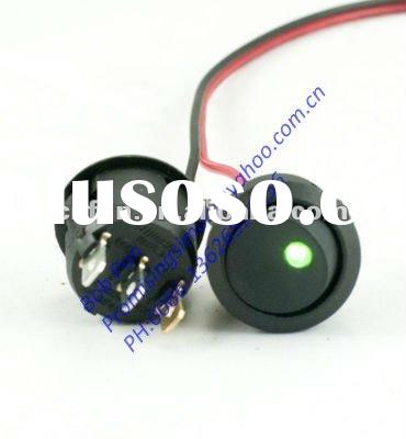 12V ON/OFF Dot led Round rocker switch,Green