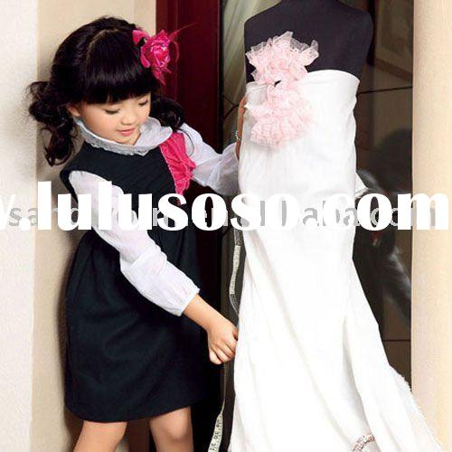2012 newest sleeveless kids fashion dresses for girls spring/summer wear