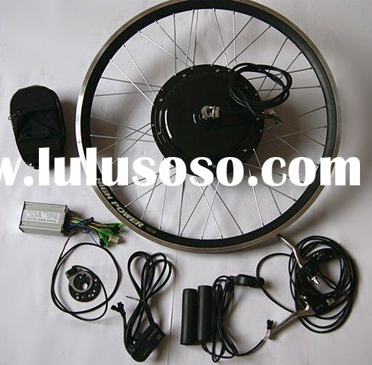 "26""wheel 48v 1000w brushless hub motor electric bicycle conversion kit with rack type battery"