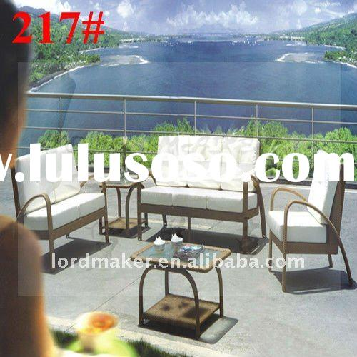 Aluminum mesh outdoor chairs of french bistro rattan chairs 217#