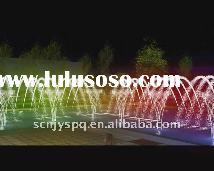 Amusement city musical fountain show for water mist sprayer
