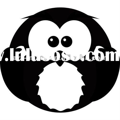 Cartoon Owl - Baby - Nursery Vinyl Wall Decals, Kids Wall Stickers