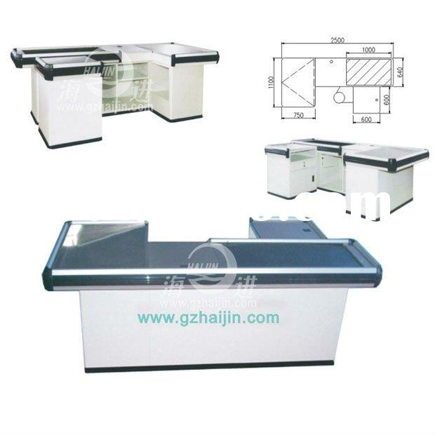 Commercial equipment- Electric Checkout Counter with conveyor belt/Grocery Cashier Table/Supermarket