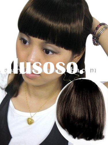 Fashion Hair fringe/salon hair products/beauty supply/ponytails drawstring with a clip wig