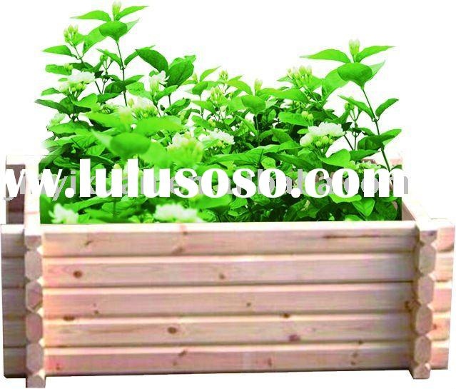 Flower box wood planter boxes