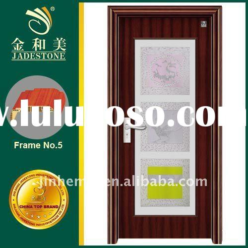 Interior Colorful Glass Bathroom Door JHM-61114M