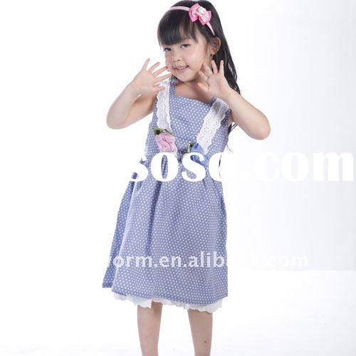 Lace appliqued summer dress for girls