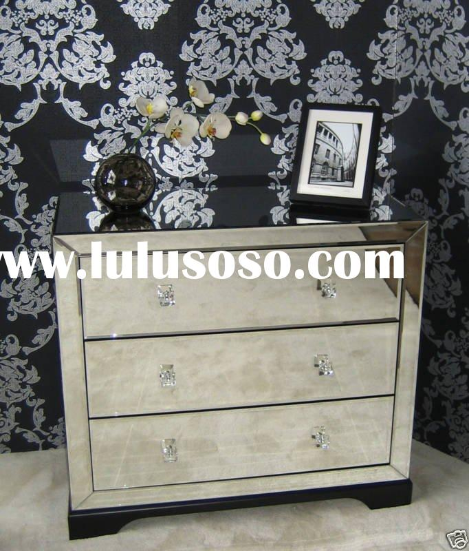 Mirror Cabinet Livingroom & Bedroom Cabinet With drawers-Jessie