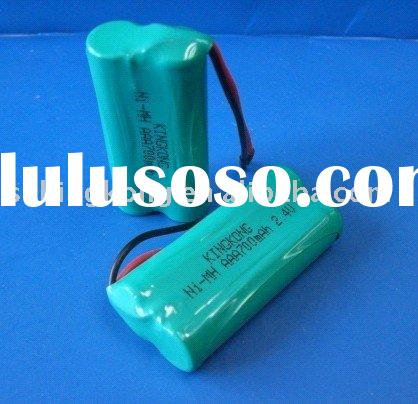 Ni-MH AAA 700mAh 2.4V rechargeable battery pack(CE, RoHS, SGS, ISO approval)