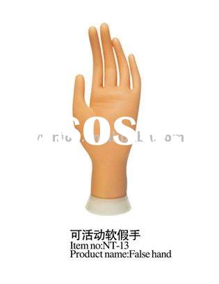 Plastic Practice hand /Movable Practice Hand paiting false nail art