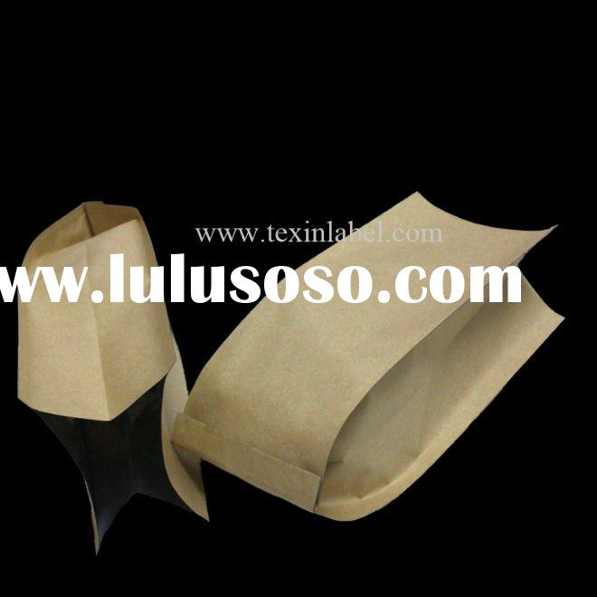 Side gusset natural kraft coffee bag with valve