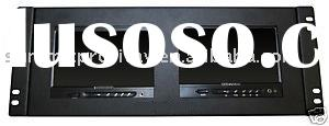 "Two 7"" LCD Monitors 19 inch Rack video broadcast equipment"