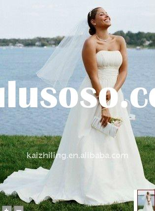 chiffon custon made plus size lace applique beach summer wedding dress 2011 hot sell