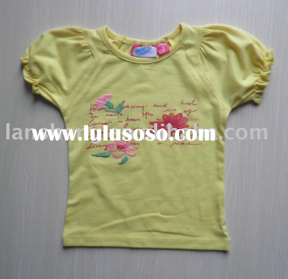 children t-shirt/baby wear/children garment/girl dress/girl summer t-shirt