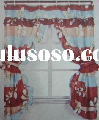 100 Polyester Valance Shower Curtain Double Swag - AxSoris.