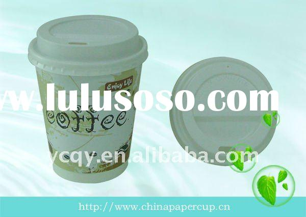 double wall coffee paper cup&lid