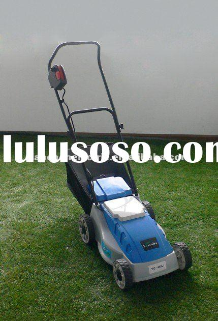 electric lawn mower, battery hand push lawn mower