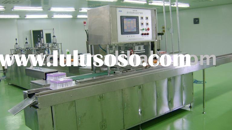 fully auto capped +tray+filling Gel+install pallet combined machine for Vacuum blood collection syst