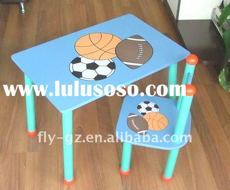 kid's table and chair, child study table and chair