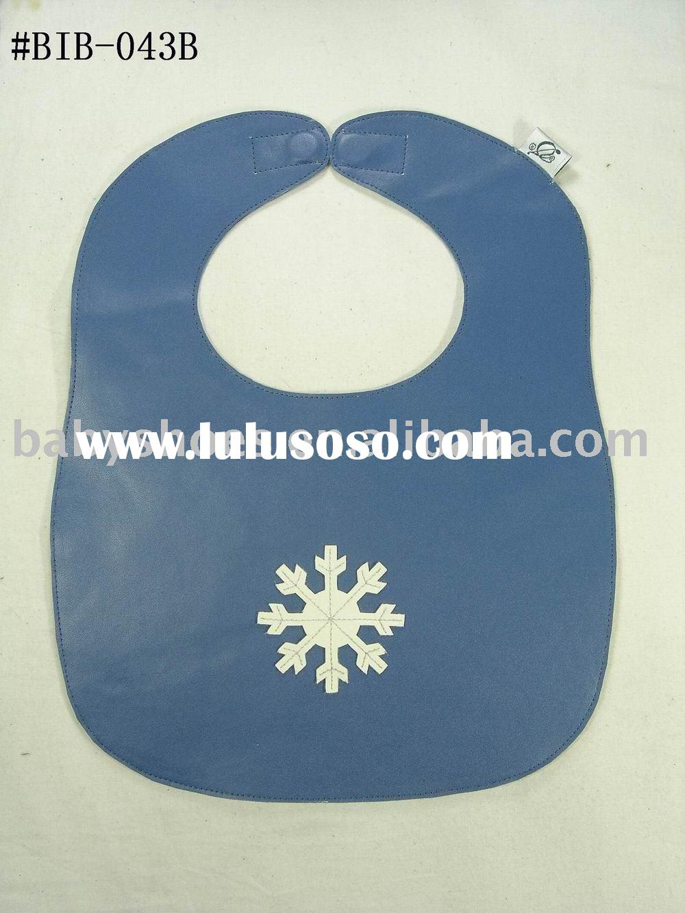 snow pattern fashion baby bibs(leather baby bibs)