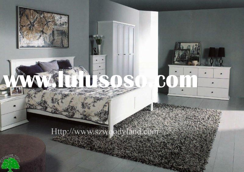 2012 modern bedroom furniture set in white color